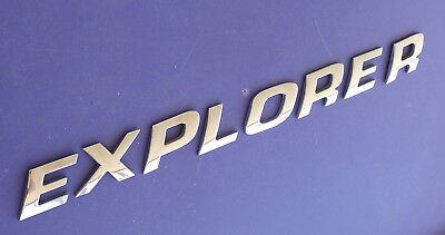 FORD EXPLORER LETTERS SET CHROME COLOR OEM BADGE DOORS HATCH? 02-03-04?