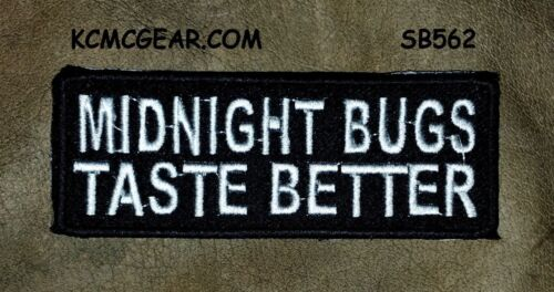 MIDNIGHT BUGS White on Black Small for Biker Vest Jacket Motorcycle Patch