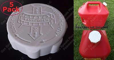 5 RUBBERMAID ESSENCE Gas Can CAP ONLY HD Blitz Gallon Lid SAFETY w/ VITON GASKET