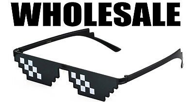 Thug Life Sunglasses 8 Bit Pixel Deal With IT Glasses Wholesale Lot Thug Life - 8 Bit Sunglasses