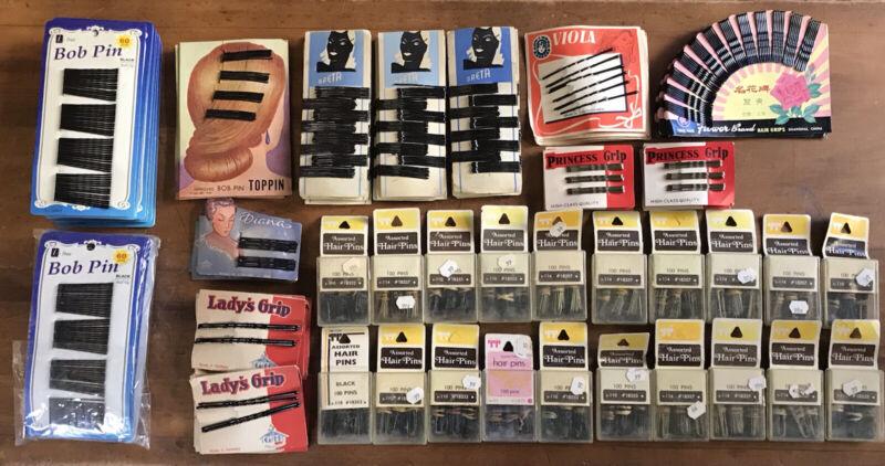 88 Packages Vintage Bobbie Pins Hair - Lady
