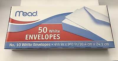 4 Boxes X 50 Gummed Closure White Letter Mailing Envelopes 4 18 X 9 12 10