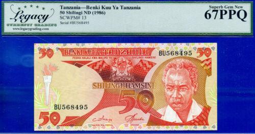 TANZANIA - Benki Kuu Ya Tanzania 50 SHILINGI ND (1986) SCWPM# 13 Superb-Gem 8495