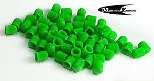 20 Plastic Tyre Valve Dust Caps GREEN