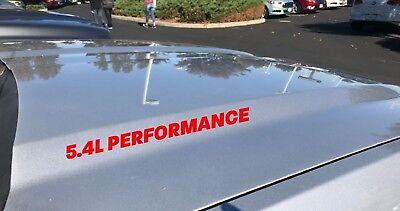 5.4L PERFORMANCE Hood Decal Emblem SVT Ford F150 GT Logo Mustang Coyote V8 Red