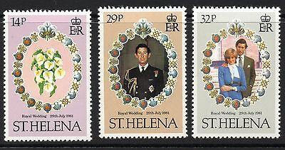 ST.HELENA SG378/80 1981 ROYAL WEDDING MNH