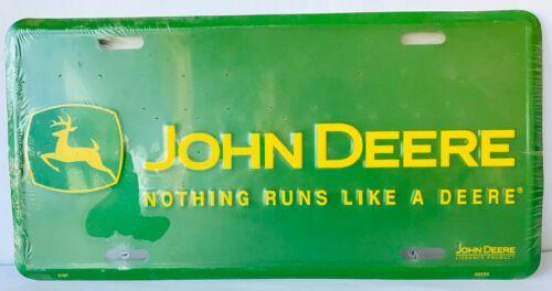 John Deere Tractors License Plate Nothing Runs Like a Deere Licensed Product New