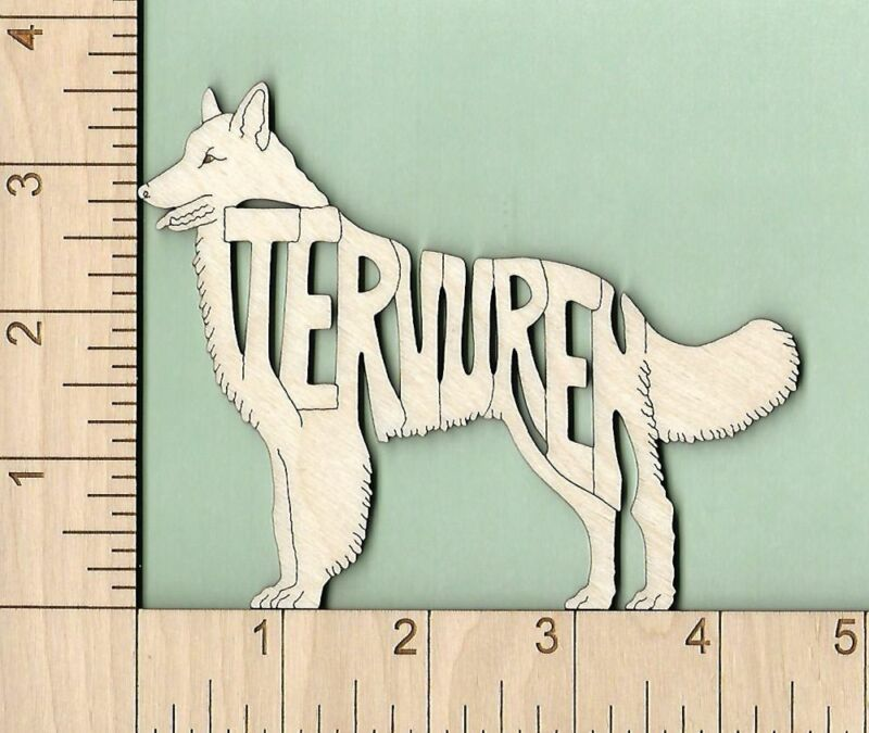 Belgian Tervuren Dog laser cut and engraved wood Magnet Great Gift Idea