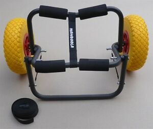 Canoe Kayak Trolley Cart by Mamboola - fold away folding - punture proof wheels