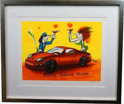 "Original Farbsiebdruck  Udo Lindenberg "" Panic Porsche Power "" handsigniert NEU"