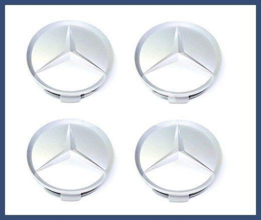 For Mercedes Genuine W124 W126 R129 Center Hub Cap Alloy Wheel 75 mm Front Gray