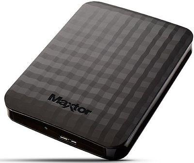 "HARD DISK ESTERNO 2TB 2,5"" USB 3.0 SUPER SPEED AUTOALIMENTATO MAXTOR HD 2000GB"