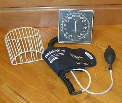 Welch Allyn Tycos Wall Aneroid Sphygmomanometer Adult Cuff Gauge Basket