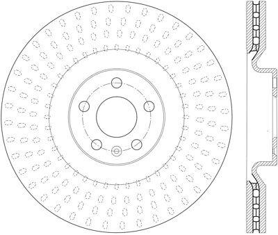 Disc Brake Rotor-High Carbon Alloy Brake Disc-Preferred fits 16-17 Volvo XC90