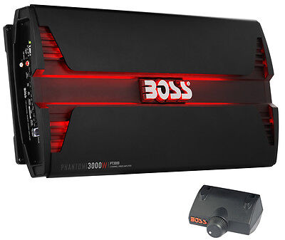 New Boss Audio PT3000 3000W 2 Channel Car Audio Amplifier Power LED Amp+Remote ()