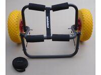 Canoe / Kayak Trolley / Cart by Mamboola - fold away folding - puncture proof wheels