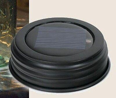 Unique Top Quality Rustic Br Mason Canning Fruit Jar Solar LED Night Light Lid