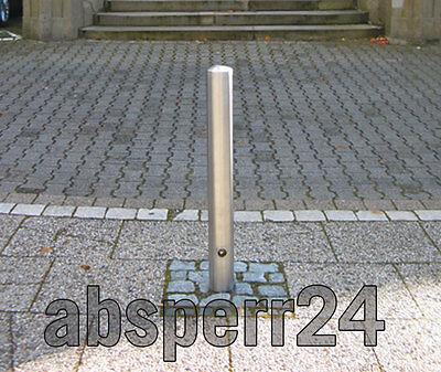 Absperrpfosten Edelstahl 102 mm Durchmesser Sperrpfosten Dreikantverschluss ()