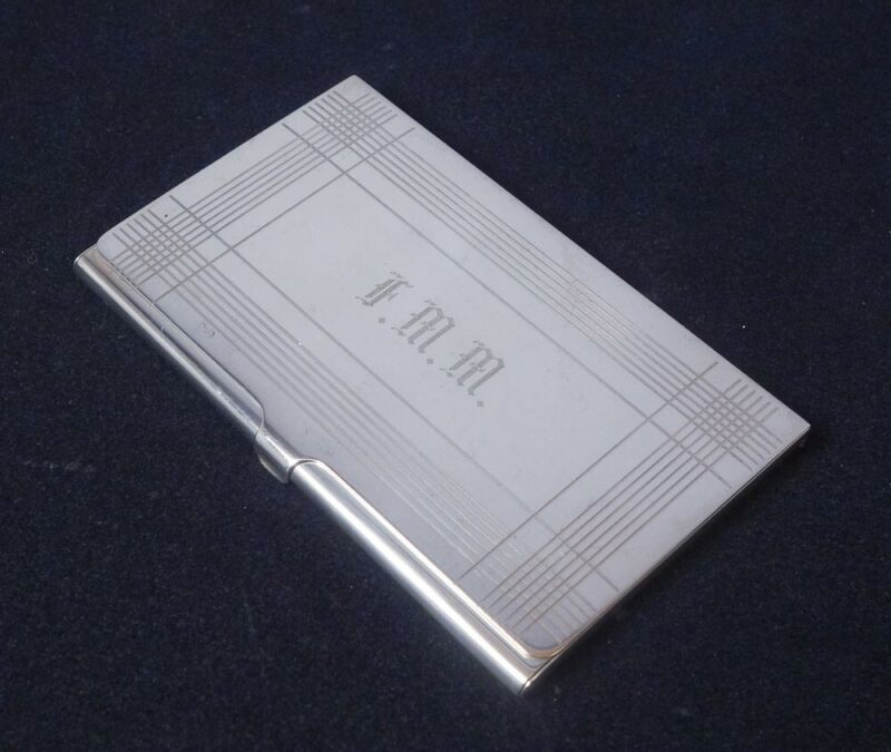 Fine Vintage Tiffany & Co Sterling Silver Business Card Case