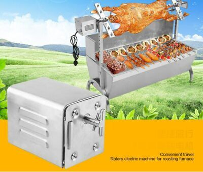 Stainless Steel Pig Goat Chicken Charcoal BBQ Grill Roaster Spit Electric Motor Stainless Steel Chicken Roaster
