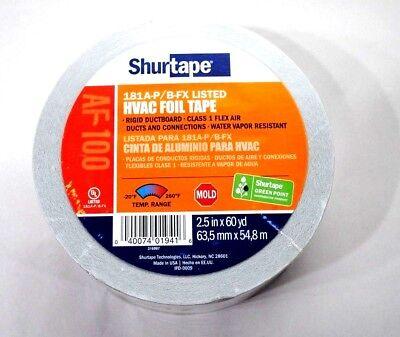 Shurtape Af-100 Aluminum Foil Tape 2-12 In. X 60 Yds. Silver Printed