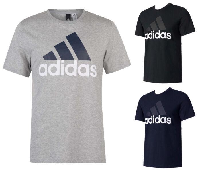 Adidas Men's Short Sleeve Essential Logo Graphic Crew Neck T-Shirt 1