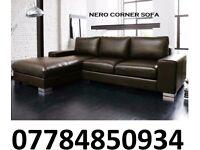 nero leather coner sofa brown