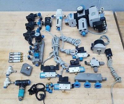 Lot Of Festo Valves Regulators Filters Fitting Manifolds And Misc. Used