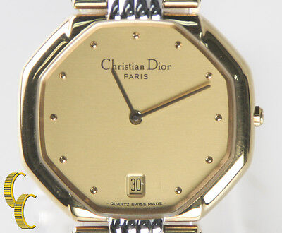 Christian Dior Women's Modele Depose Two Tone Gold Plated Quartz Watch 45.134