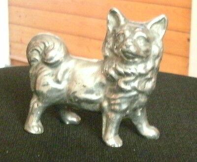 POMERANIAN SPITZ SOLID METAL DOG MODEL DOG ORNAMENT