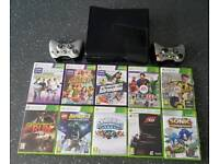 Xbox 360 with Kinect, 2 controllers and 10 games