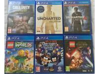 SONY PLAYSTATION 4 PS4 GAMES COD WORLD WAR 2 WWII LEGO SOUTH PARK UNCHARTED GAMES