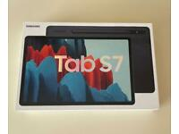 BNIB SAMSUNG TAB S7 WIFI +CELLULAR UNLOCKED (4G) in Black + Free Case