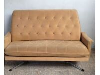 ICONIC Mid-Century SOFA Couch Eye-Catching Great Design Chair Seating Retro Home