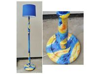 Standard Lamp Vincent Van Gogh Floor Lamp Starry Night Hand Painted Yellow Blue Rewired PAT Tested