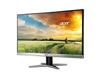 Acer Monitor G247HYU smidp 23.8-inch IPS WQHD (2560 x 1440 res) (Display Port, HDMI Port & DVI Port)