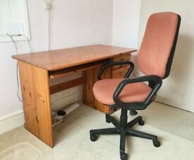 Computer Desk with 4 Drawers AND Adjustable Office Chair