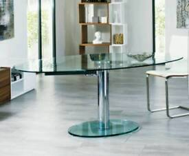 Dwell Luca Extending Glass Dining Table (new and boxed)