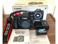 Canon 80D 24.2mp DSLR Camera - Only 3 months old