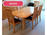 Ash Dining Table & 6 Chairs