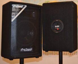 2 x ProSound speakers + 200W amp