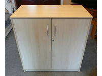 Office Cupboard - High quality - Lockable - Beech colour - Adjustable shelf.