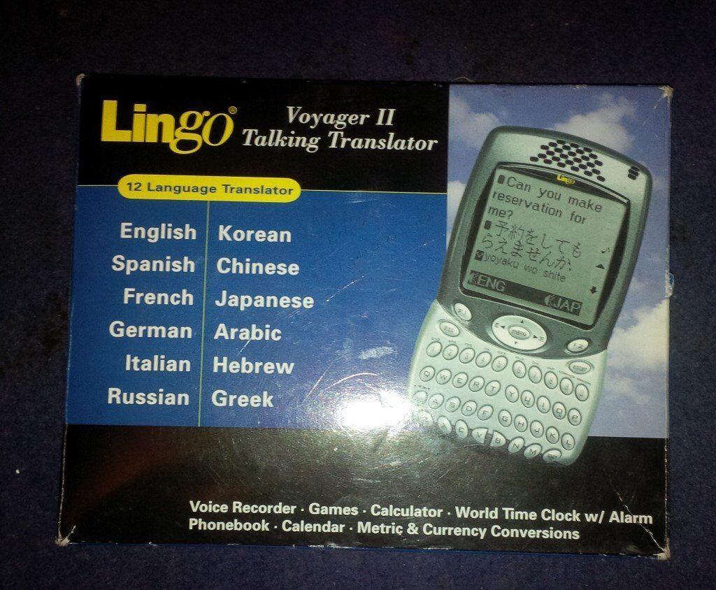 LINGO VOYAGER II TALKING TRANSLATOR