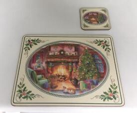 Christmas Placemat Set, 8 Large and 8 Small