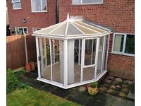 Conservatory for Sale - UPVC, sliding metal door, large openers, includes furniture (offers welcome)