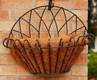 New Decorative - Black Wrought Iron Style Hanging Flower Planter