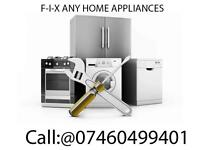 "Fridge freezer, Cooker, Hob, Washing machine, Dryer, Dishwasher Sell, Install, ""Repair•=*"