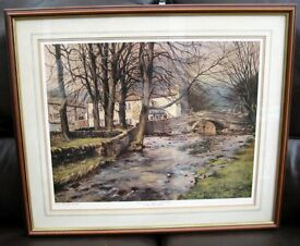 WINTERS END, MALHAM by PETER THORN. A numbered framed print