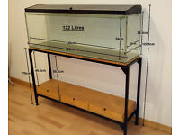 John Allan Aquariums 122L - Fish Tank Stand Display Aquatic