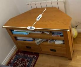 Wooden TV Stand for sale free to collect